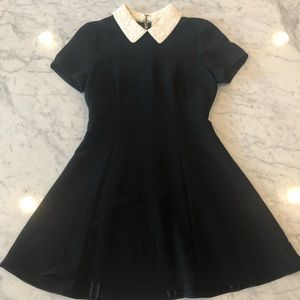 kate spade Dresses - Black Kate Spade Dress with White Sequence Collar